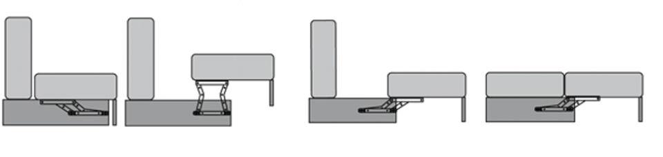 Раскладка дивана Mercury