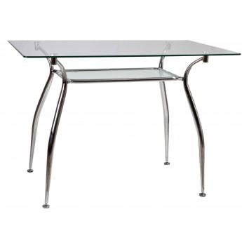 Прямоугольный стеклянный обеденный стол Патриция