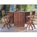 Деревянный барный стол для сада Канары