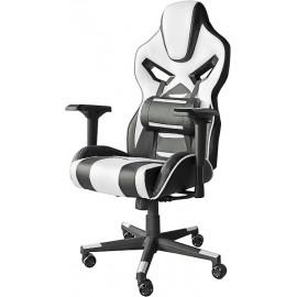 Геймерское кресло Фабио черно-белое
