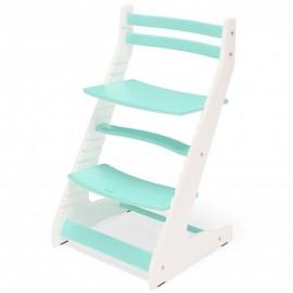Растущий стул Вырастайка 2D бело-фиолетовый