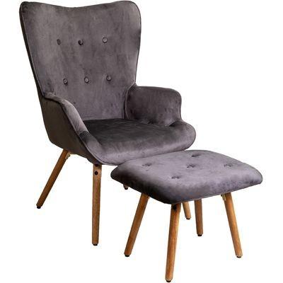 Кресло для отдыха Вог темно-серое
