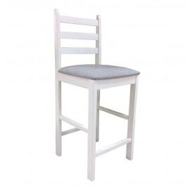 Белый деревянный барный стул МДК-45 Э