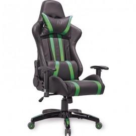 Геймерское кресло FPS черно-зеленое