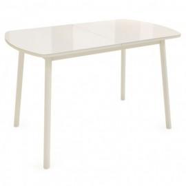Раздвижной обеденный стол Rosa крем