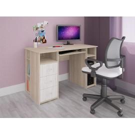 Компьютерный стол СК-010 дуб сонома/дуб белый