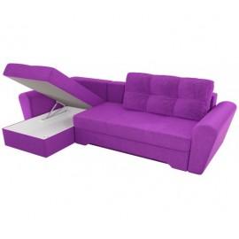 Угловой диван со спальным местом Кирстен фиолетовый