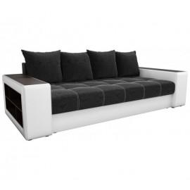 Прямой диван Визави черно-белый