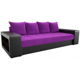 Прямой диван Визави фиолетово-черный