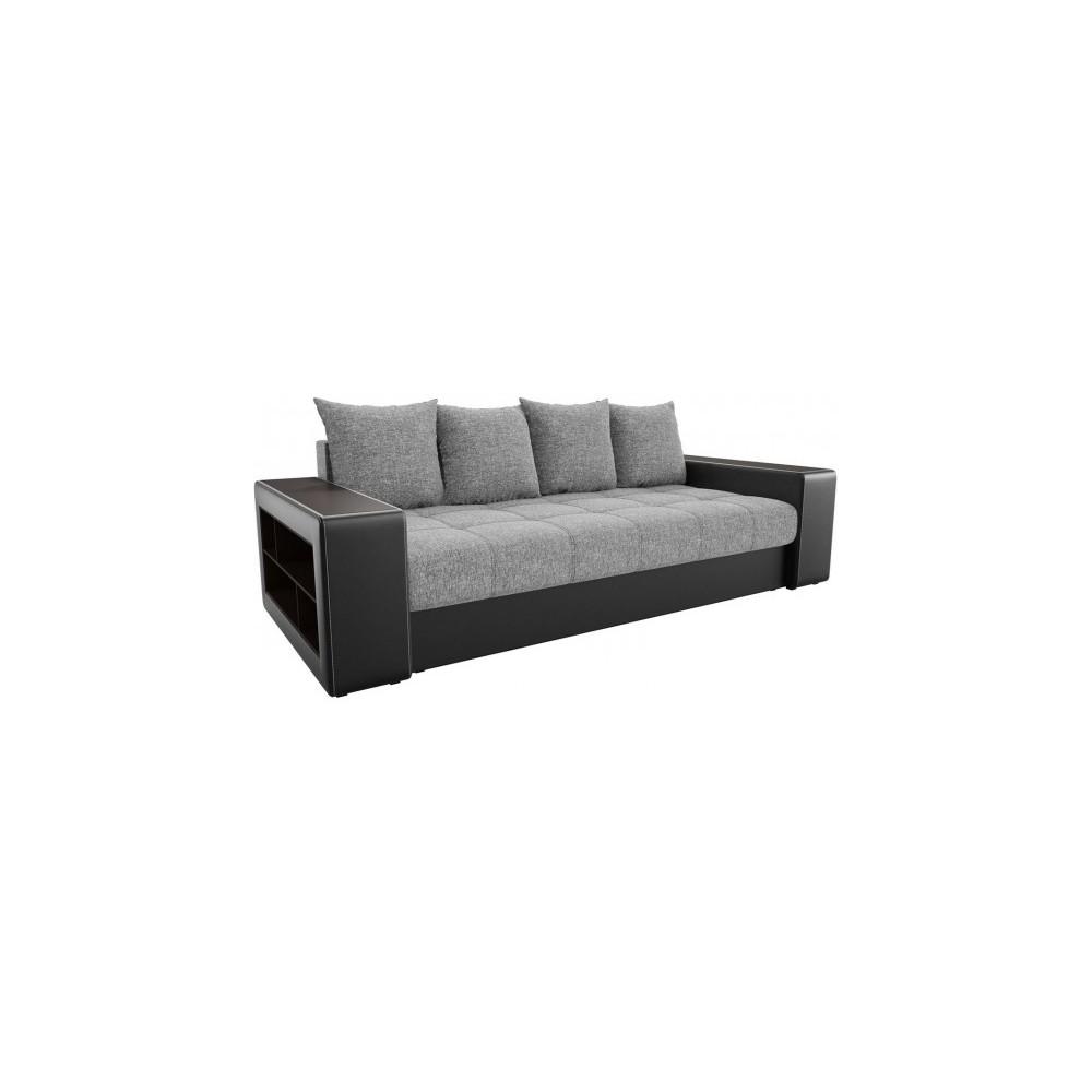 Прямой диван Визави серо-черный