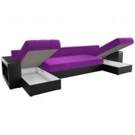 П-образный диван Визави-В фиолетово-черный