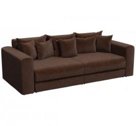 Прямой диван Барон-В коричневый