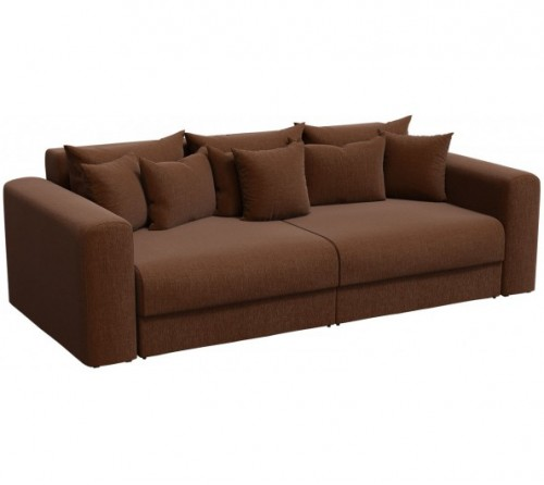 Прямой диван Барон-Р коричневый
