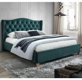 Двуспальная кровать Aspen Velvet 160 зеленая