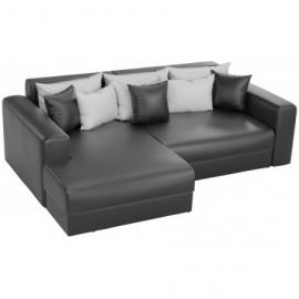 Угловой диван со спальным местом Барон черный