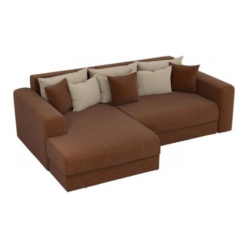 Угловой диван со спальным местом Барон-Р коричневый