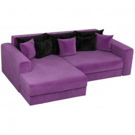 Угловой диван со спальным местом Барон-В фиолетовый