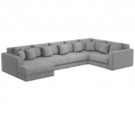 П-образный диван Барон-Р серый