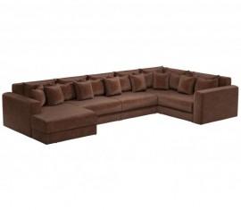 П-образный диван Барон-В коричневый