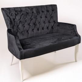 Двухместный диван London черный