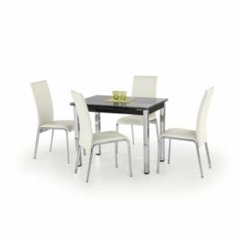 Раздвижной обеденный стол Halmar LOGAN черный