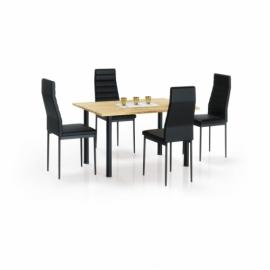 Стол обеденный Halmar ADONIS 2 дуб золотой/черный