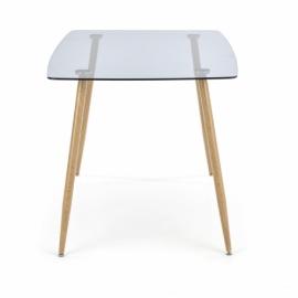 Стол обеденный Halmar NEXT стекло/дуб медовый