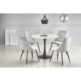Круглый стеклянный обеденный стол Halmar AMBROSIO