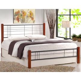 Односпальная кровать из массива и металла Viera 120