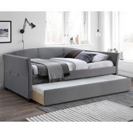 Двухъярусная односпальная кровать из ткани Sanna 90