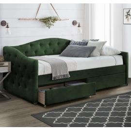 Односпальная кровать из ткани Aloha 90 зеленая