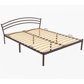 Металлическая кровать Авео коричневая
