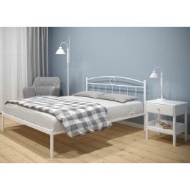 Металлическая кровать Авео белая