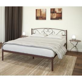Металлическая кровать Мальта коричневая