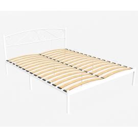 Металлическая кровать Ницца белая