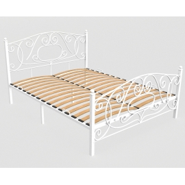 Металлическая кровать Капри белая