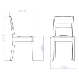 Деревянный стул Алина венге