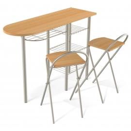 Барный стол со стульями Primo