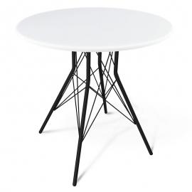 Круглый белый обеденный стол Миранда