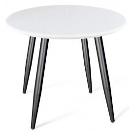 Круглый белый кухонный стол Angus