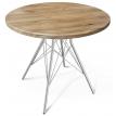Круглый кухонный стол в стиле лофт Dinner