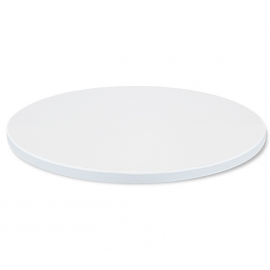 Круглый белый обеденный стол Tonic