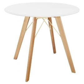 Белый круглый обеденный стол BASIC