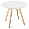 Круглый белый обеденный стол BRUGGE