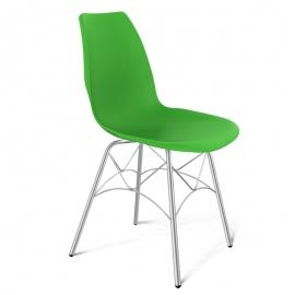 Пластиковый стул Густав зеленый
