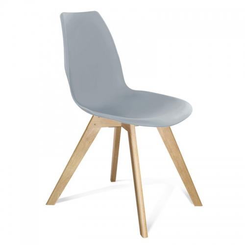 Серый пластиковый стул для кухни Атланта