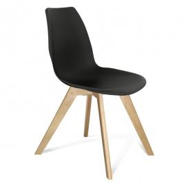 Черный пластиковый стул для гостиной Лайн