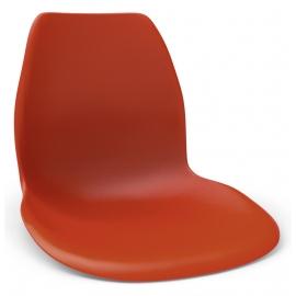 Красный пластиковый кухонный стул Ольборг