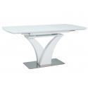 Белый раздвижной обеденный стол SIGNAL FARO 120-160