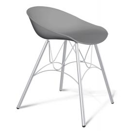 Пластиковый кухонный стул-табурет Felon серый/хром